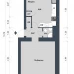 Квартира в Швеции, 44 кв.м.