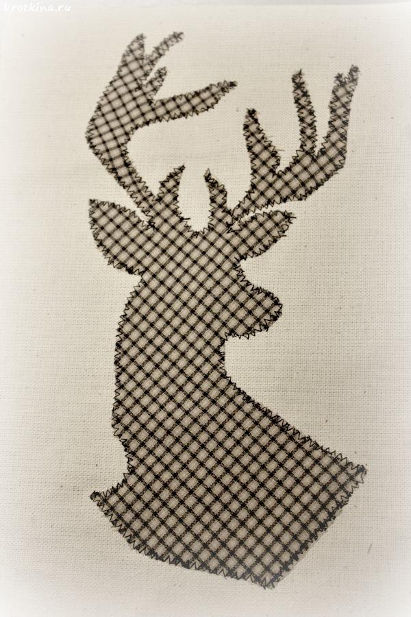 Постер из ткани Силуэт оленя