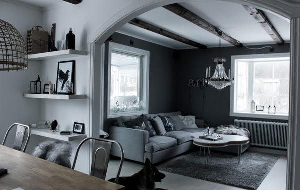 Дом в Швеции. Гостиная