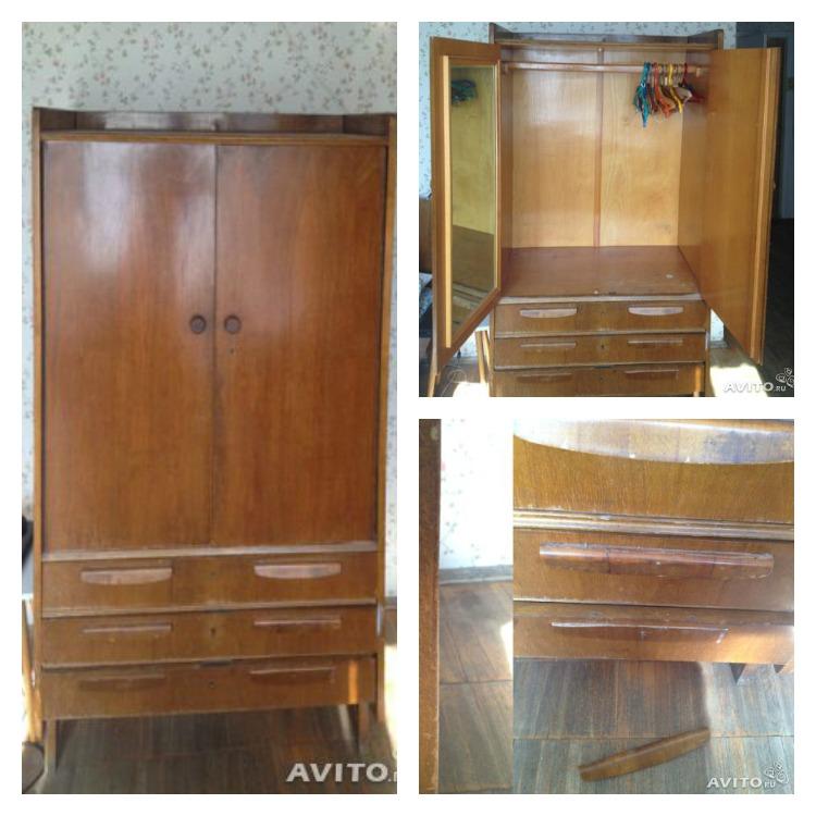 Старинный шкаф массив дерева