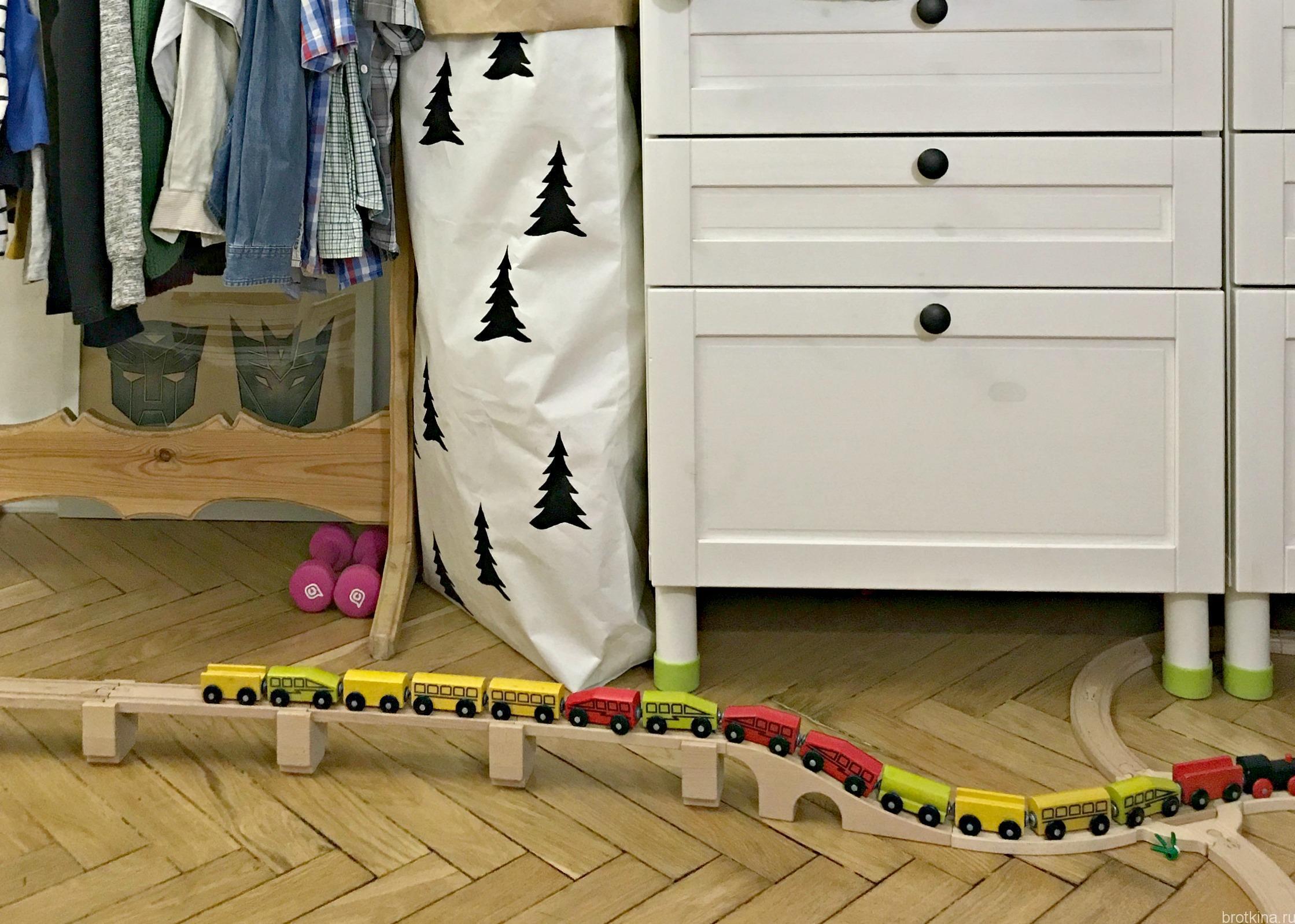 DIY. Декор бумажного мешка для игрушек с елками по мотивам fine little day